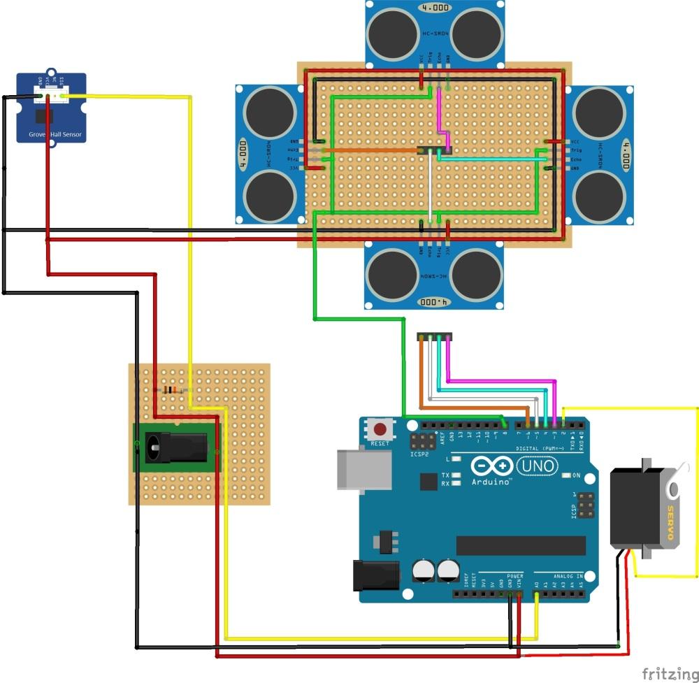 Lo schema elettrico del radarino
